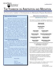 THE YEARBOOK ON ARBITRATION AND ... - Penn State Law