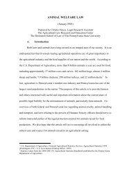 ANIMAL WELFARE LAW - Penn State Law