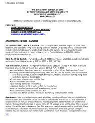 View the Carlisle Housing List - Penn State Law