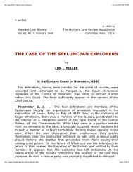 The Case of the Speluncean Explorers - Penn State Law