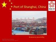 Port of Shanghai - China - Asia New Zealand Foundation