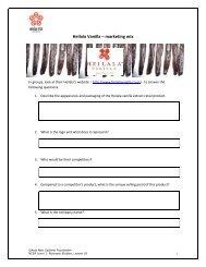 Heilala Vanilla – marketing mix - Asia New Zealand Foundation