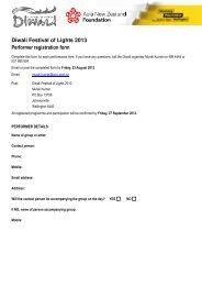 Diwali Festival of Lights 2013 Performer registration form