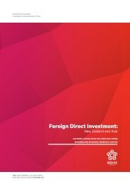 Foreign Direct Investment: - Asia New Zealand Foundation