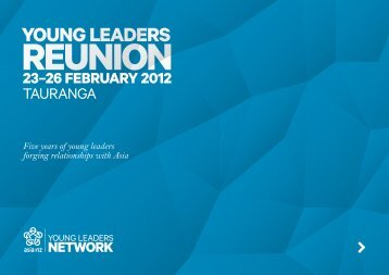 Young Leaders Reunion booklet - Asia New Zealand Foundation