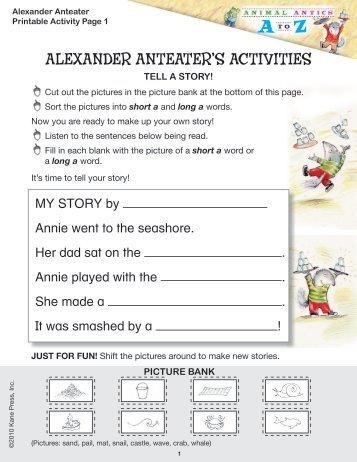 ALEXANDER ANTEATER'S ACTIVITIES - Kane Press
