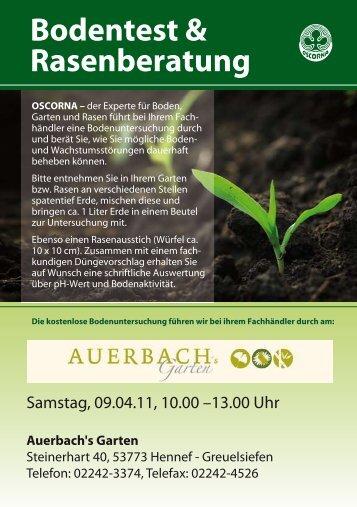 Bodentest & Rasenberatung - Auerbachs Garten
