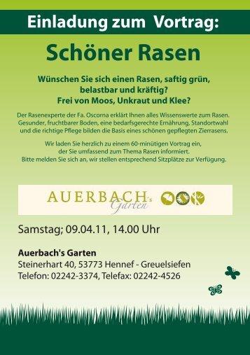Schöner Rasen - Auerbachs Garten
