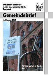 Juli/August 2013 - Fabian- und Sebastian-Kirche zu Beverstedt