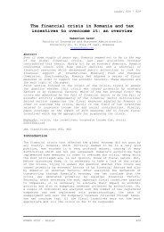 Lazar S., The financial crisis in Romania and tax incentives ... - mibes