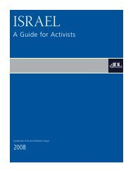 Israel - Anti-Defamation League