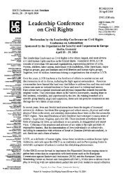 Declaration by the Leadership Conference on Civil Rights