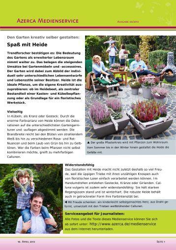 Darleyensis magazine for Garten kreativ gestalten
