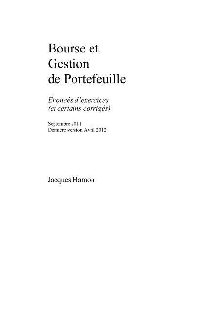 60% de réduction comment avoir plus gros rabais Bourse et Gestion de Portefeuille - Dauphine Finance