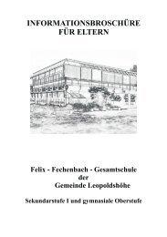 Informationsheft für Eltern - Felix-Fechenbach-Gesamtschule ...