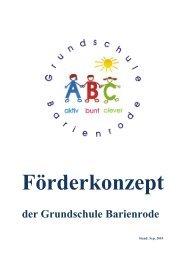 Förderkonzept der Grundschule Barienrode