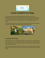 Carpet Installation San Diego
