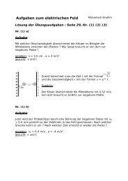 Aufgaben zum elektrischen Feld - Gymnasium Horkesgath