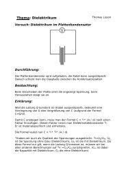 Thema: Dielektrikum - Gymnasium Horkesgath