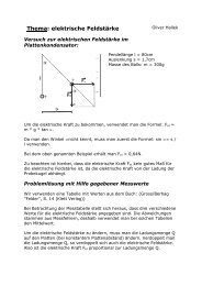 Elektrische Feldstärke - Gymnasium Horkesgath