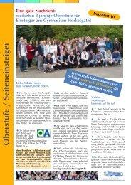Infoblatt 1 VS.qxd - Gymnasium Horkesgath