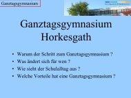 Warum werden wir Ganztagsgymnasium - Gymnasium Horkesgath