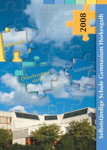 Schulbroschüre - Gymnasium Horkesgath