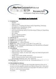 Merkblatt zur Facharbeit