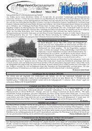 Ausgabe März 2005 - Mariengymnasium Bocholt