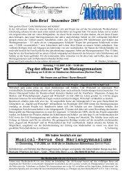 Ausgabe Dezember 2007 - Mariengymnasium Bocholt