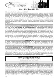 Info – Brief Dezember 2004 - Mariengymnasium Bocholt