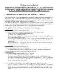 Information zur Oberstufe - G8 - ab Abi 2013 - Mariengymnasium ...