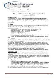 Satzung des Fördervereins - Mariengymnasium Bocholt