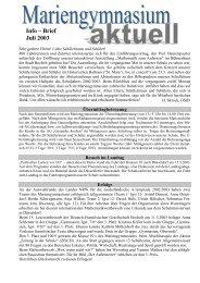 Ausgabe Juli 2003 - Mariengymnasium Bocholt