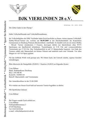 DJK VIERLINDEN 28 e.V. - TV Voerde Volleyball