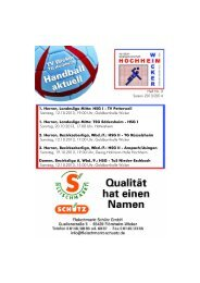 1. Herren, Landesliga Mitte: HSG I - TV Petterweil ... - TV Wicker