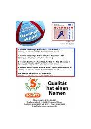 1. Herren, Landesliga Mitte: HSG - TSG Münster II ... - TV Wicker