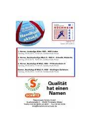 1. Herren, Landesliga Mitte: HSG - MSG Linden ... - TV Wicker