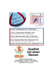 1. Herren, Landesliga Mitte: HSG - TV Hüttenberg II ... - TV Wicker