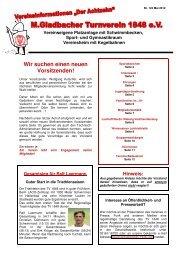 Version I-2012 Ausgabe 122 - M.Gladbacher Turnverein 1848 eV