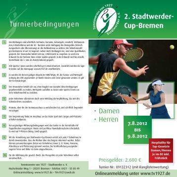 2. Stadtwerder- Cup-Bremen - Tennisverein von 1927 - Stadtwerder ...