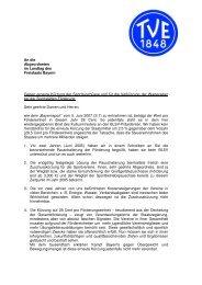 Offener Brief an die Abgeordneten des Bayerischen Landtages