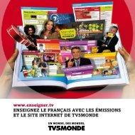 Pourquoi enseigner le français avec TV5MONDE