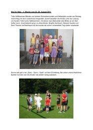 Hits für Kids – 4. Woche vom 22.-26. August 2011 ... - TV Darmsheim