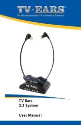 TV Ears 2.3 System User Manual - TV Ears Canada