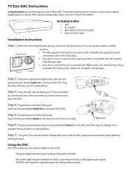 TV Ears DAC Instructions - TV Ears Canada