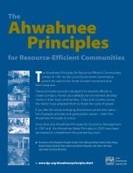 Ahwahnee Principles for Resource-Efficient Communities