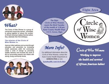 Elgin Circle of Wise Women Brochure - Kane County Health ...
