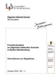 Fremdevaluation an allgemein bildenden Schulen in Baden ...
