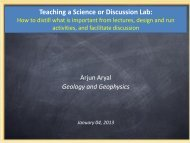 Teaching a Science or Discussion Lab: - the Center for Teaching ...